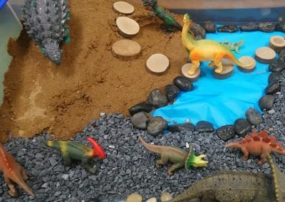 Small world dinosaur play - Launching into Learning