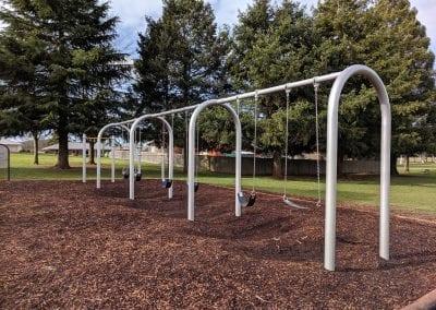 Primary playground swings