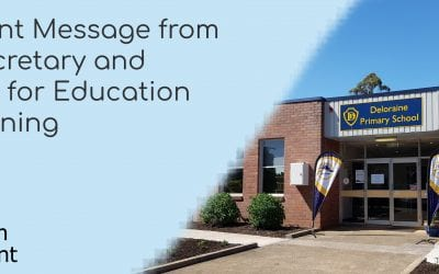 Term 1 Week 9 – Message for Parents from DOE Secretary and Minister for Education and Training